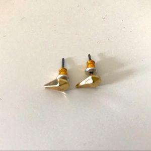 5/$10 Gold Diamond Shaped Stud Earrings